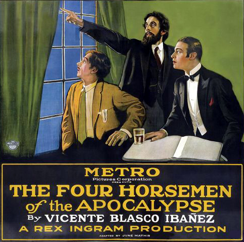 Poster för filmen The Four Horsemen of the Apocalypse från 1921